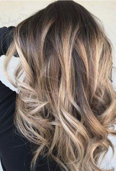 New Hair Balayage Straight Curls Ideas Balayage Brunette, Hair Color Balayage, Hair Highlights, Balayage Straight Hair, Honey Balayage, Dark Brunette, Brown Balayage, Blonde Color, Hair Colour