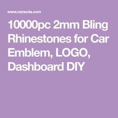 10000pc 2mm Bling Rhinestones for Car Emblem, LOGO, Dashboard DIY