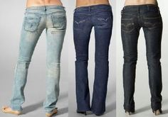 Denim jeans are among the most popular casual wear for men and women of all ages. Made of rugged cotton fabric in whom the weft (the transverse thread) passes under two or more warps (the longitudinal thread), they have the familiar diagonal ribbing and are very strong and durable. They are very popular because they can be worn in every casual setting and with almost every kind of clothes and footwear.