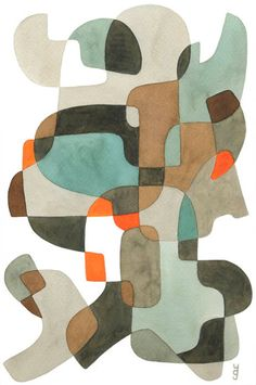 Big Abstract Art Print Mid Century Modern art door YolantaPrints, $30.00