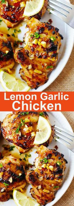 Lemon Garlic Chicken – juicy, moist and delicious chicken marinated with an amazing lemon chicken marinade. This chicken recipe is easy, quick and delicious with pasta or rice. A family-friendly dinner | rasamalaysia.com