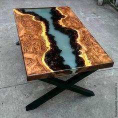 Купить стол - коричневый, лофт, дизайн интерьера, дизайнерская мебель, столик кофейный, стол