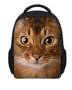 a545c9430e New 12inch 3D children pet cat print school bag for girls small kids animal  schoolbag baby toddler bookbags mochila infantil