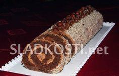 Oříškovo kakaová roláda s Nutellou