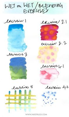 WATERCOLORS FOR BEGINNERS-BLENDING TECHNIQUES+AN ARTISTIC GIVEAWAY