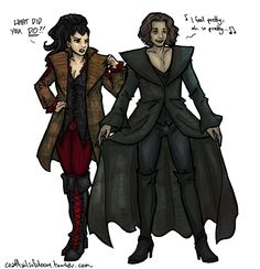 Evil Queen and Rumplestiltskin costume swap!