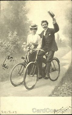 Couple with Bicycles 1903