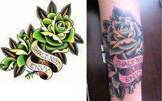 Old school #tattoo #rose