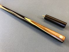 Snooker cue hand spliced with Gabon Ebony and Ovangkol. Made by David Bowen Cues Snooker Cue, Pool Cues, Tacos, David, Classic, Handmade, Hand Made, Craft, Classical Music