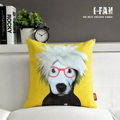 Andy Warhol Inspired Throw Pillow Case- Not likely to see this on all the neighbors' sofas