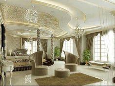 Home Decor: Iivingroom gypsum board decoration Dream Rooms, Dream Bedroom, Home Bedroom, Interior Decorating, Interior Design, Interior Ideas, Master Bedroom Design, Master Bedrooms, Master Suite
