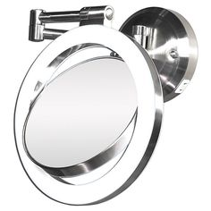 """Please order 1:  Quinn chooses this options!  Best price I've seen!!  MOUNT with J-box - 66"""" from floor and 12"""" from back wall.  Zadro Dual-Sided Lighted Magnifying Dual-jointed Swivel Wall-Mount Mirror"""