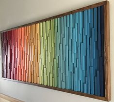 Stick Wall Art, 3d Wall Art, Colorful Wall Art, Hanging Wall Art, 3d Wall Decor, Wooden Wall Art, Wall Wood, Scrap Wood Art, Wood Wall Design