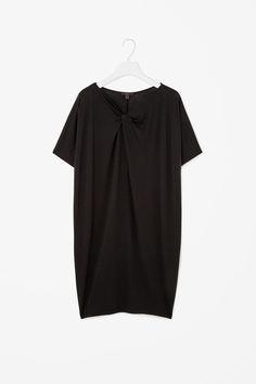 Dress with draped neckline, COS.