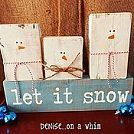 Hometalk :: Snowman with Christmas Tree. Acrylic tole paint on vintage window