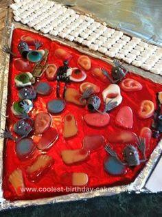 Homemade Halloween Birthday Cake... This website is the Pinterest of halloween cakes