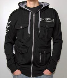 Jason Ellis Wolfknives M65 Military Zip Hooded Sweatshirt