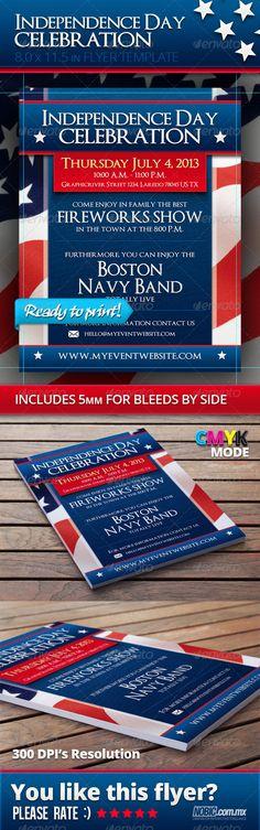 Bundle Flyer Independence Day July 4 Flyers, Independence day - independence day flyer
