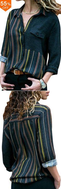 Purposeful Vonda Women Striped Long Shirt Dress 2019 Autumn Sexy Long Sleeve Lapel Neck Buttons Split Party Dresses Holiday Vestidos 5xl Attractive And Durable Women's Clothing