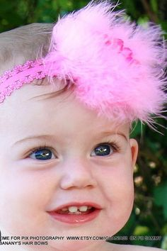 Hot Pink Flower and Marabou Lace Headband by Sammy by iguania03, $7.99