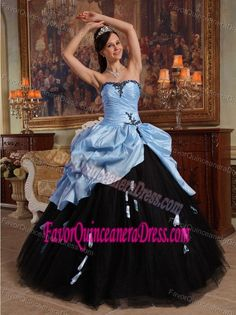 82765933c Unique Lilac and Black Quinceanera Dress with Pickups in Tulle and Taffeta  Vestidos De Quinceanera