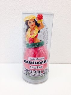 Lovely Hawaiin Dashboard Hula Doll Bobble Hawaiin Girl for Car Dash