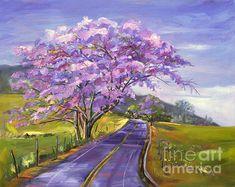 Original painting by Jennifer Beaudet #art #Hawaii #trees