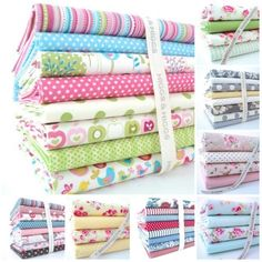 FQ BUNDLES - SPRING FLORAL  100% COTTON FABRIC  bundle remnants
