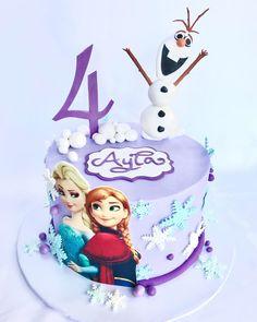 Olaf Birthday Cake, Disney Princess Birthday Cakes, Toddler Birthday Cakes, Baby Girl Birthday Cake, Elsa Birthday Party, Frozen Birthday Cake, Frozen Cake, Tarta Frozen Disney, Anna Cake