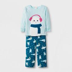 b8cfc7688 Toddler Girls' 2pc Seal Pajama Set - Cat & Jack™ Aqua 5T