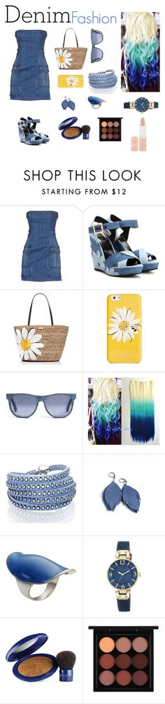 """Denim #2"" by danae-zzz ❤ liked on Polyvore featuring Pierre Balmain, Roger Vivier, Kate Spade, Sif Jakobs Jewellery, Ileana Makri, Anne Klein, Elizabeth Arden, MAC Cosmetics, Rimmel and Denimondenim"