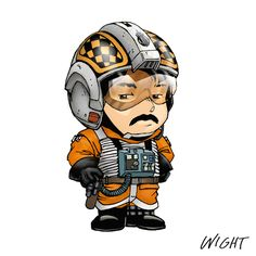 STAR WARS ABC'S - SD - X is for X-Wing Pilot by Joe Wight