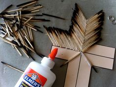 Burnt matchstick cross tutorial