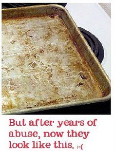 Baking Soda and Peroxide: Put 1/4 cup of baking soda in a bowl, add enough peroxide to make a paste. Rub on with fingers or sponge. Cleans EVERYTHING! Stove, oven, pans, stainless steel applicances, even the white handles of the refrig door.
