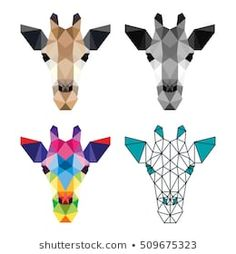 Find Polygon Animal Pet Giraffe Zoo Polygonal stock images in HD and millions of other royalty-free stock photos, illustrations and vectors in the Shutterstock collection. Art Pop, String Art Names, Giraffe Tattoos, Triangle Art, Polygon Art, Tape Art, Animal Quilts, Guache, Vintage Stamps