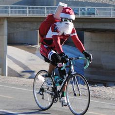 Looks like Santa is delivering by @bianchi_official bike. Gonna take a lot of trips. Pedal faster! #hohoho #santa #bikemessenger #bikesanta Pin it and find more (and your next bike) at http://www.BikeRoar.com