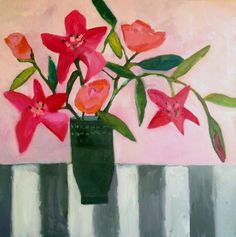 For Sentimental Reasons by Annie O'Brien Gonzales #contemporary #art #florals