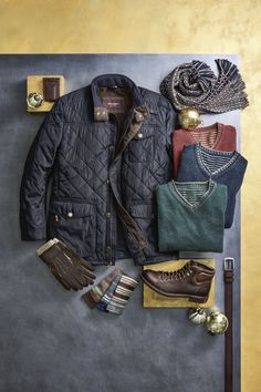 Johnston & Murphy - To Give & Receive: The best gifts are ones that delight long after the holidays are over. Men Fashion, Fashion Ideas, Winter Fashion, Men Clothes, Clothes Horse, Mens Outdoor Fashion, Dapper Dan, Johnston Murphy, Fine Men