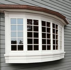 Bow window for bedroom.
