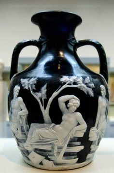 The famous Portland Vase, a Roman cameo glass vase, was created sometime in the early 1st century B.C.