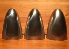 3 Original Mid-Century Silver Metal Bullet by AntiqueApartment