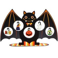 Arbre Miniature: Halloween (Chauve-souris),Jouets,Créations en papier,Halloween,potiron,ornement,Potiron,fête,décoration,chauve-souris,arbre,arbre d'Halloween