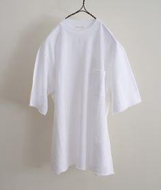 COMOLI ショートスリーブポケットスウェット(WHITE) http://floraison.shop-pro.jp/?pid=73854569
