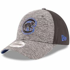 Chicago Cubs New Era Shadowed Team Logo 9FORTY Adjustable Hat - Heathered  Gray Black - 59a860425