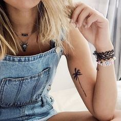 """""""It is the nature of the strong heart, that like the palm tree it strives ever upwards when it is most burdened."""" - Philip Sydney #inkbox #inkboxlove"""