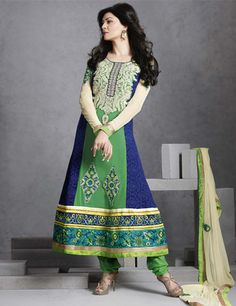 Our Sush, Sushmita sen is really look hot and beautiful in this salwar kameez Product code - G3-WSS1850 Price - INR 4597/-
