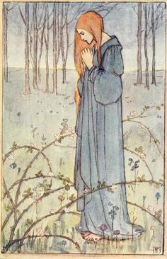 A Book of PoetryIllustrated by Florence Harrison  She stood on inner ground that budded flowers.