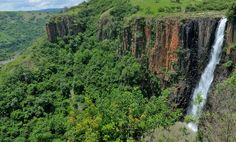 """Known by the local Zulu people as """"KwaNogqaza"""" which means """"place of the tall one,"""" Howick Falls cascades 95m into the Umgeni River. You can also hike the Howick Falls Gorge Walk or enjoy a swim and a picnic at the bottom of the waterfall. www.midlandsmeander.co.za"""