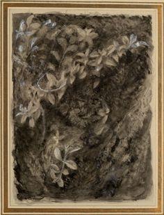 Ruskin, John - Veronica Officinalis: Leafage in foreground Effect Drawing School, John Ruskin, Drawing Websites, Writing Styles, Victorian Era, Botany, Veronica, Graphite, Teaching