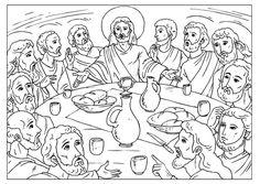 Malvorlage  das letzte Abendmahl
